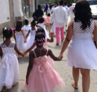 pink children in harlem